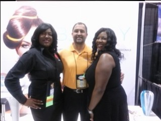 Tamika Day with Tim Burns Director of Operations - Beauty Cast Network and Jacqueline Bridges, Design Essential Educator
