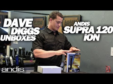 Andis Supra 120 iON Unboxing by Andis Educator Dave Diggs