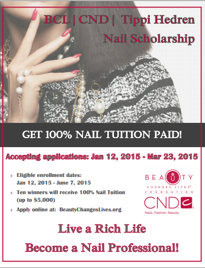 Don't Miss Your Chance To Win The Tippi Herdren Nail Scholarship